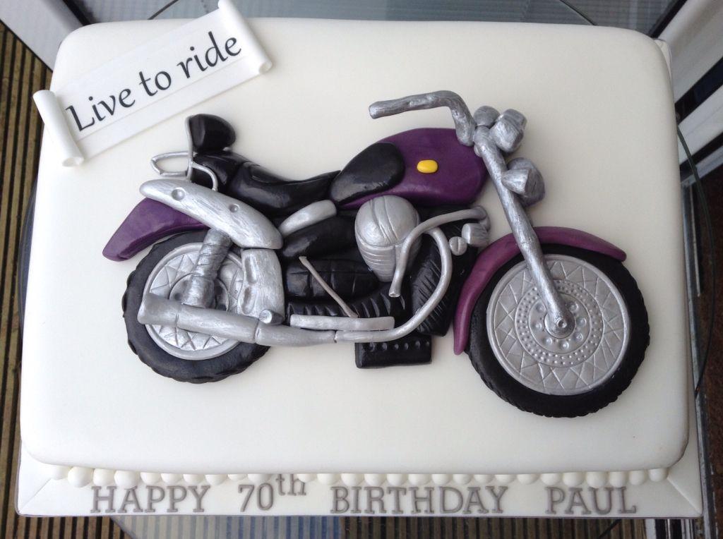Triumph Motorbike Cake Topper