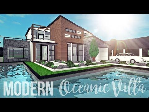 Bloxburg Modern Oceanic Villa 109k Youtube Two Story House Design House Blueprints Luxury House Plans