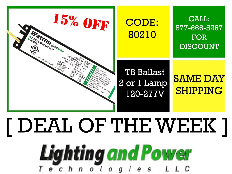 Deal Of The Week T8 Electronic Fluorescent Ballast Code 80210 Coding Ballast Fluorescent