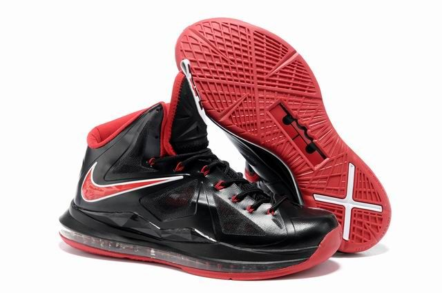 Nike Lebron 10 Black Red White  a60aee1b7076