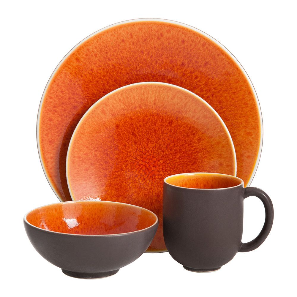 Add enviable colour to any table setting with the Tourron dinner plate from Jars. In a range of vivid colourways this stylish dinner plate has a subtle ...  sc 1 st  Pinterest & Tourron Dinner Plate - Orange | Ranges Kitchen design and Kitchens