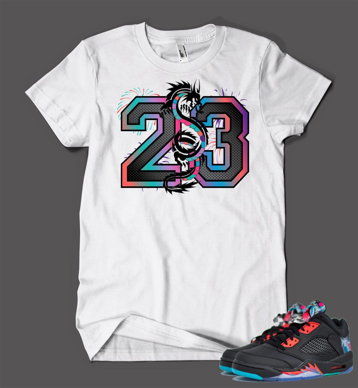 d55eb948abec T Shirt To Match Retro Air Jordan 5 Low Chinese New Year Shoe in ...