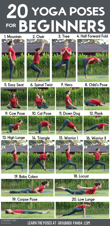Photo of 20 Yoga-Posen für Anfänger (+ Free Printable)