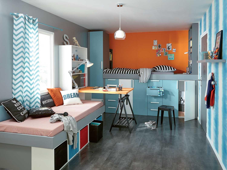 une chambre d 39 ado astucieuse et sympa avec tutos et plans pour le r aliser diy bricolage. Black Bedroom Furniture Sets. Home Design Ideas