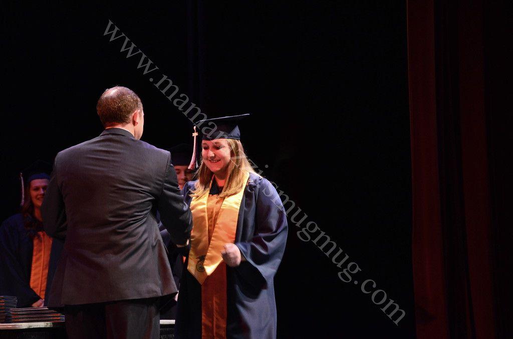 High School Graduation Picture. Senior Year, Mid Term Graduation Ceremony