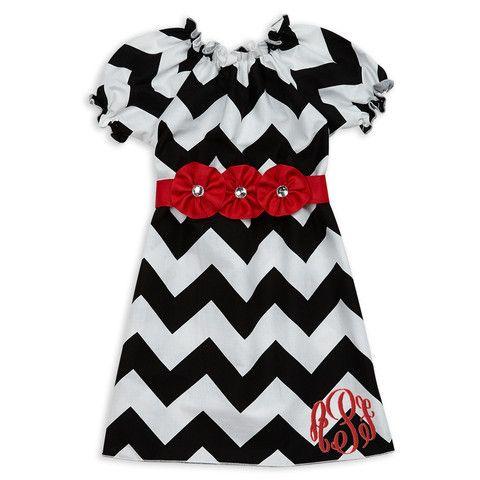 0e585a4b83b2b Lolly Wolly Doodle Kids Holiday Clothing. Girl's Christmas Dress. Black  Chevron Red Rhinestone Flower Sash Dress. lollywollydoodle.com