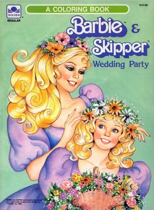 Barbie Coloring Books Retroreprints The World S One True Coloring Book Archive Barbie Books Vintage Coloring Books Coloring Books