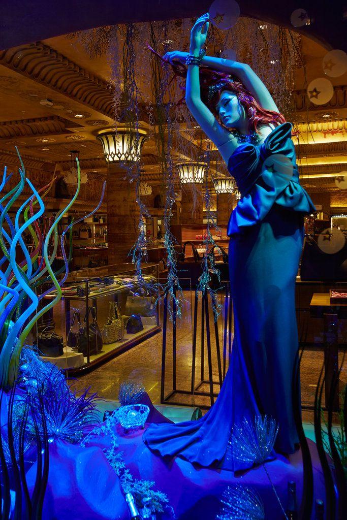 Harrods London      Ariel from The Little Mermaid by Marchesa Courtesy of Harrods