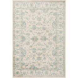 Photo of benuta carpet velvet beige / blue 300×400 cm – vintage carpet in the used look benuta