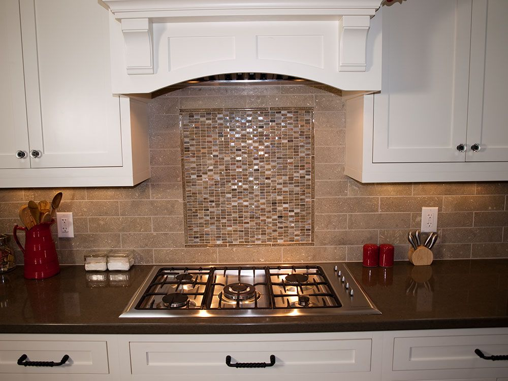 pictures of backsplash in kitchens beachwood kitchen remodel made glass tile mosaic 7439