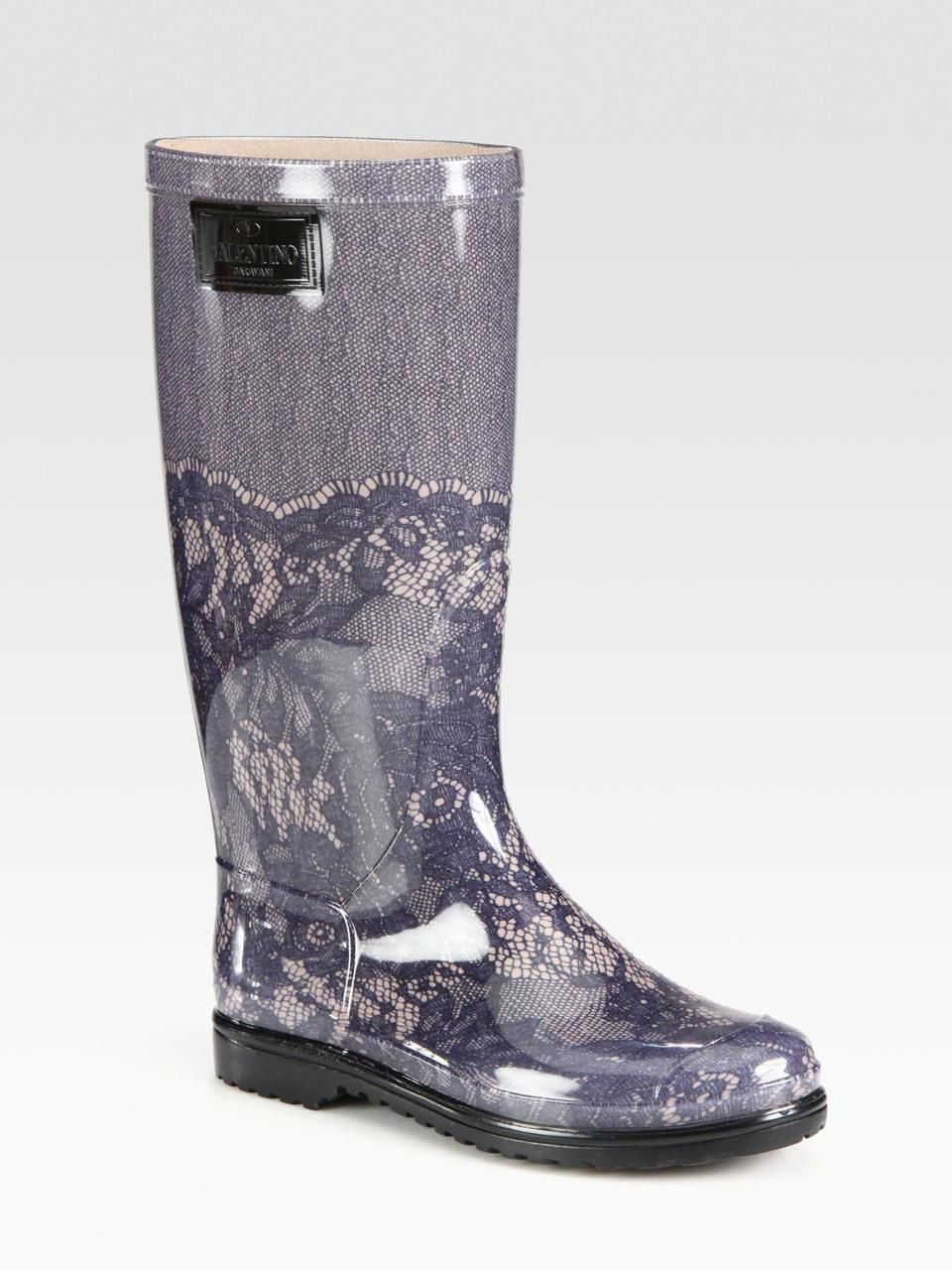 Valentino Lace Rain Boots clearance big discount 2014 newest with paypal online lowest price online kdcSpwsdYz