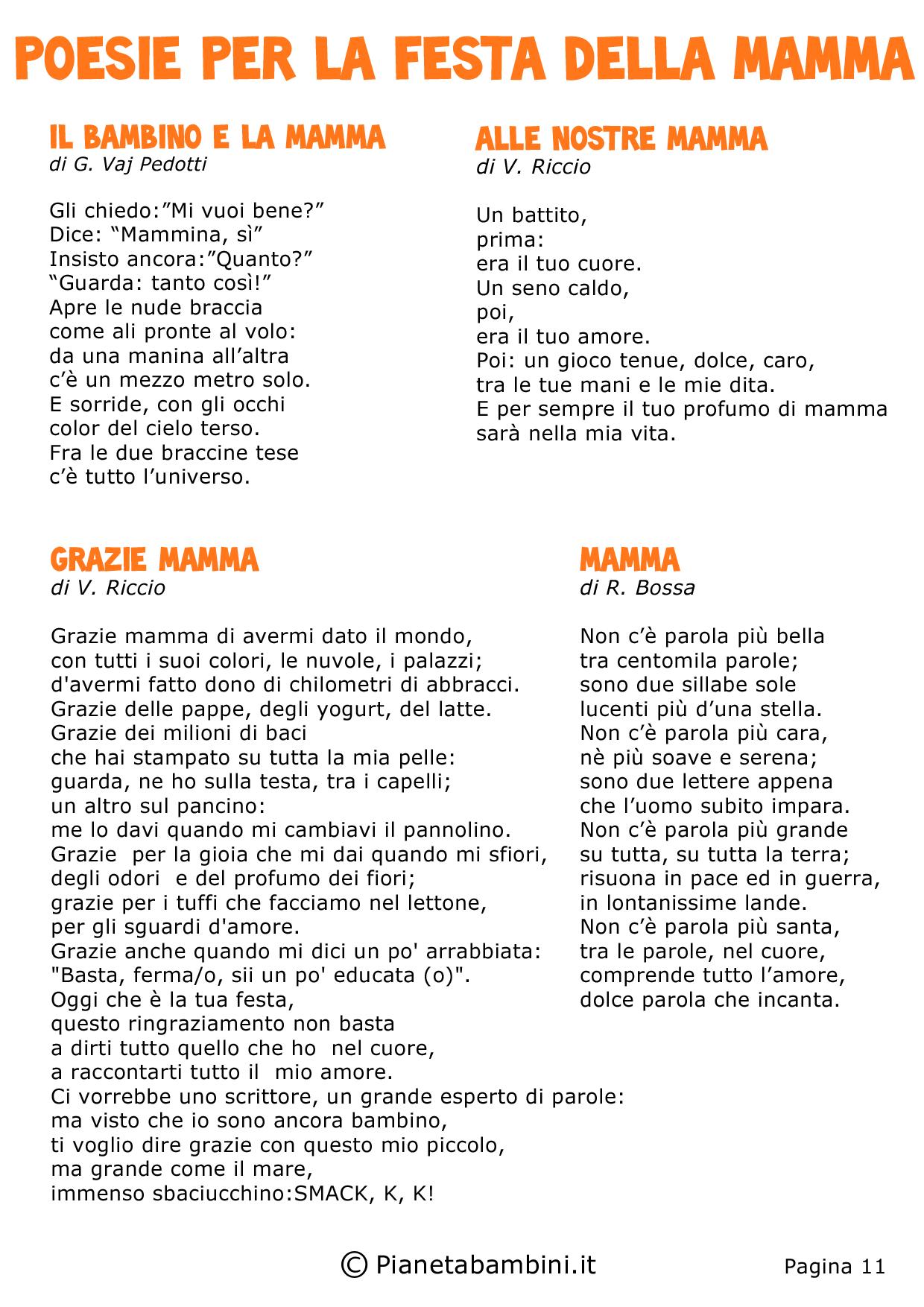 Poesie per la festa della mamma per bambini festa della - Poesie primaverili per la scuola materna ...
