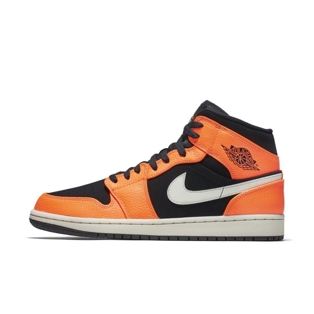 2958ed402e99 Air Jordan 1 Mid Men s Shoe Size 17 (Black)
