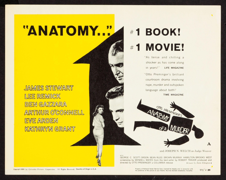 Anatomy of a Murder (1959) | Saul Bass | Pinterest | Saul bass ...