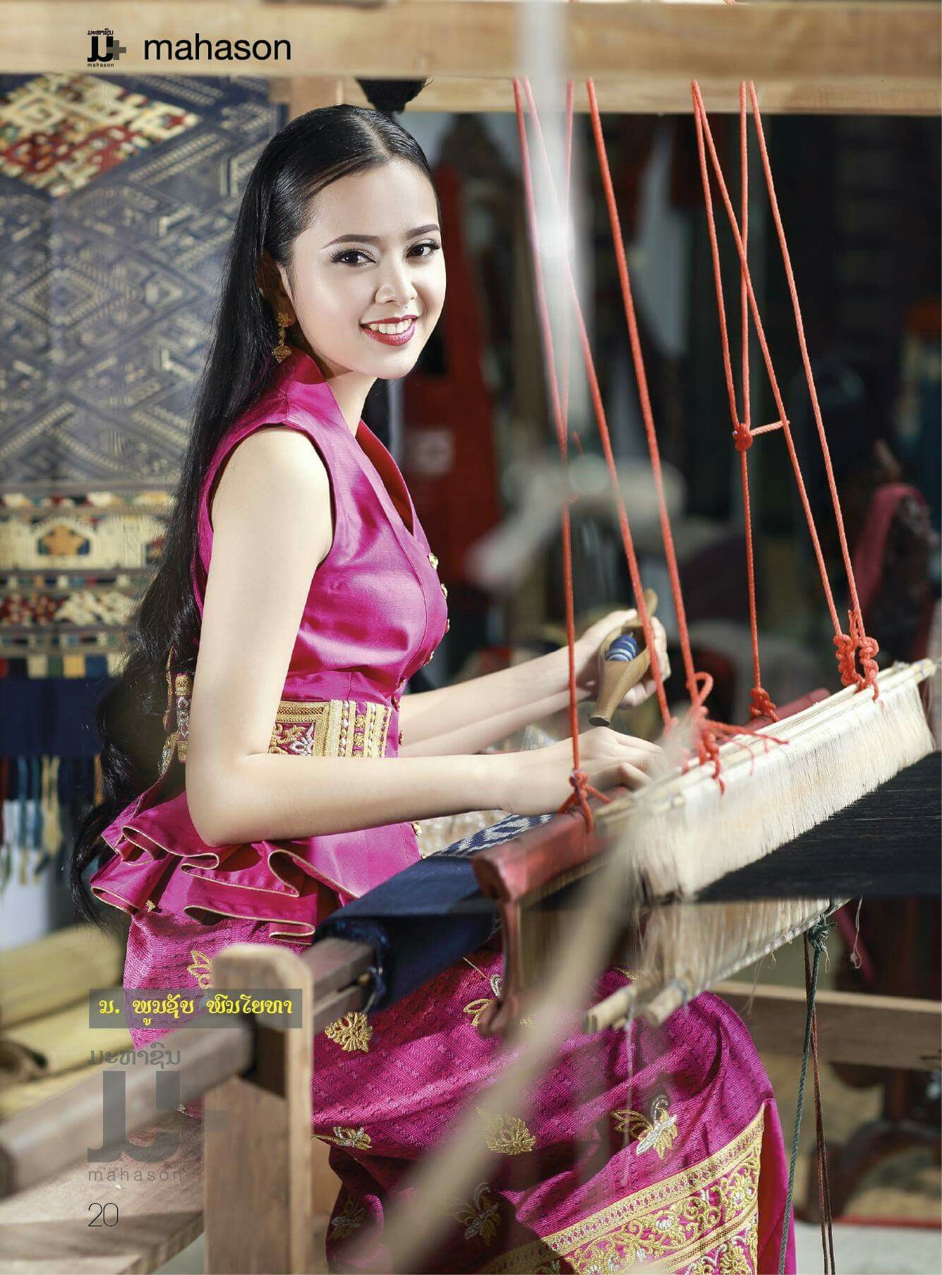 Weaving Lao Silk Takes Time Everything Is Handmade  Lao -2799