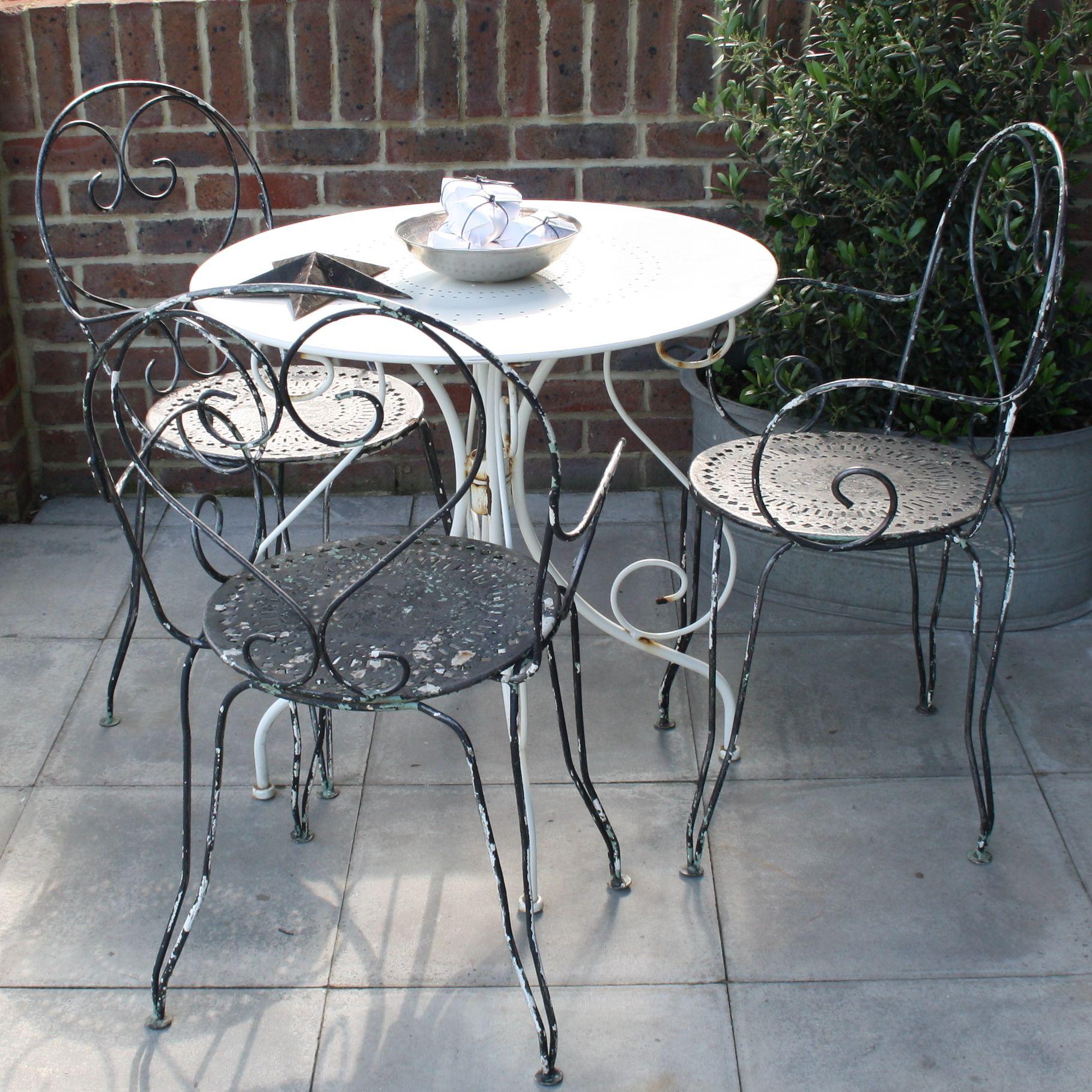 Vintage French Bistro Set Www Designvintage Co Uk Patio Furnishings Outdoor Patio Decor Outdoor Patio Set