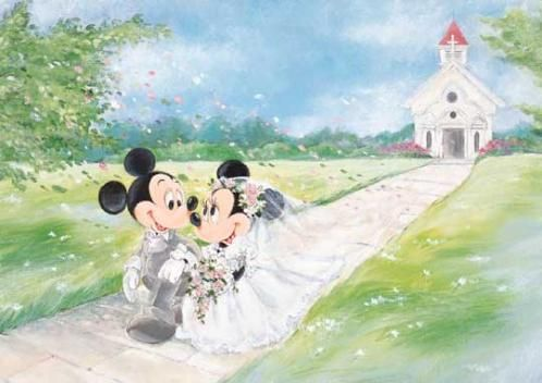 D-108-841 Tenyo Disney Mickey Mouse et Minnie Mouse Puzzle