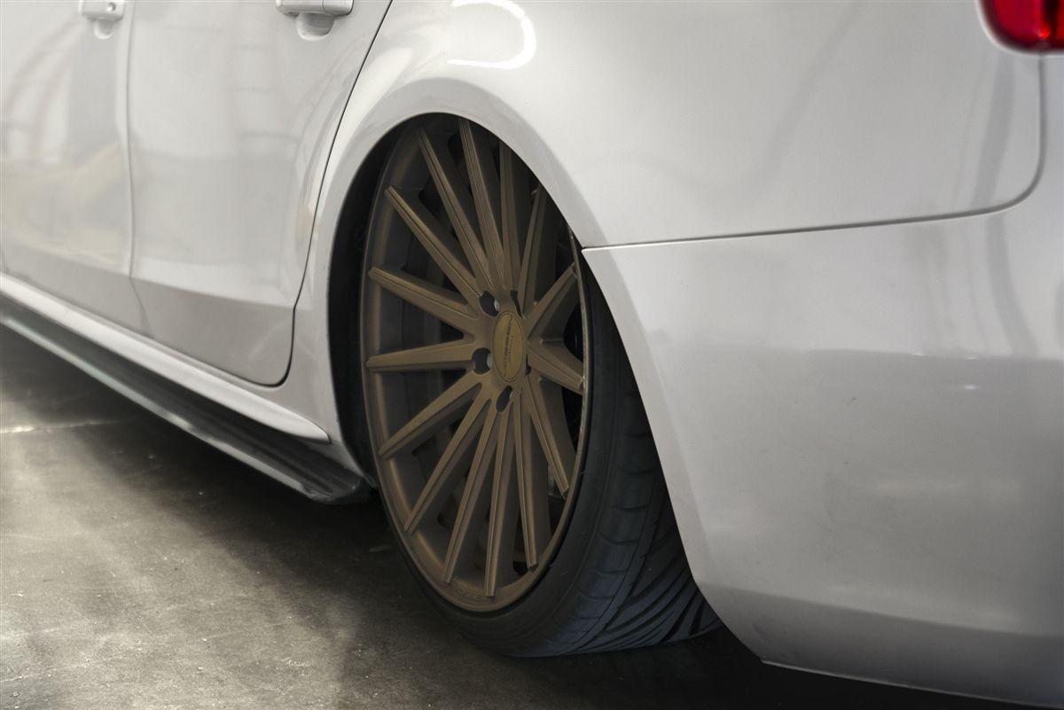 Enlaes Audi B8 B8 5 S4 A4 Side Skirts Carbon Fiber Audi Carbon Fiber Fiberglass