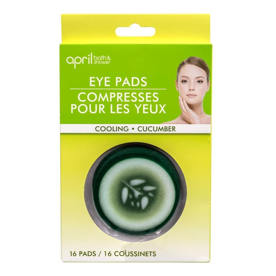 April Bath Shower Cooling Cucumber Eye Pads 16 Ct Packs