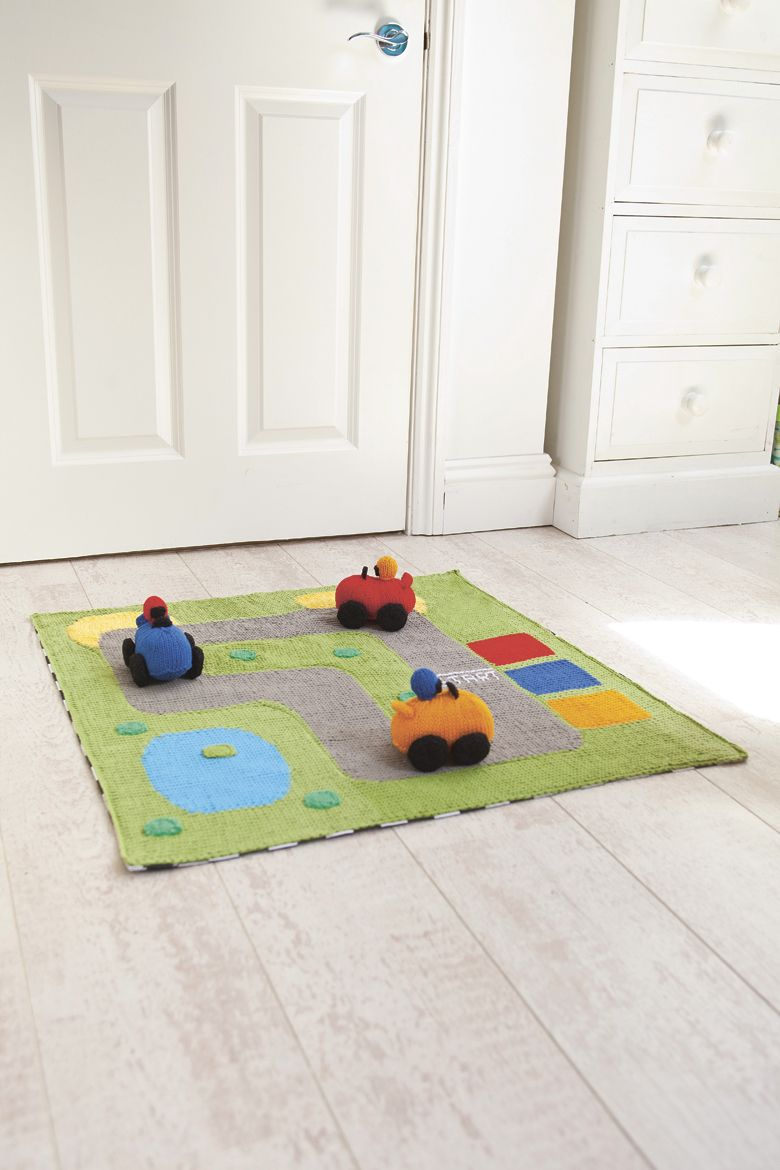 Knit your own race car playset - the perfect piece for any playroom ...
