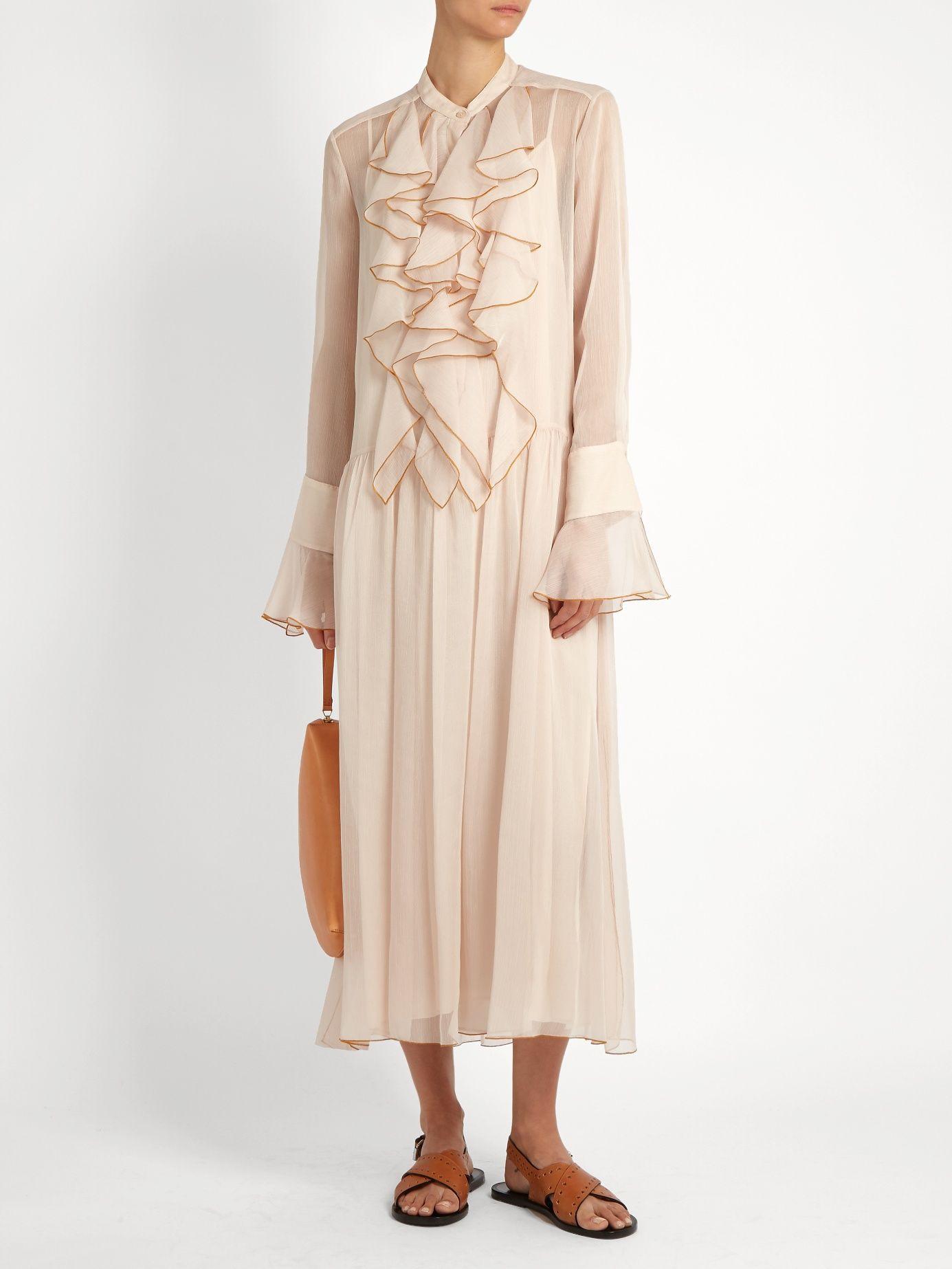 Chloé Ruffle-trimmed dress yPbmSj