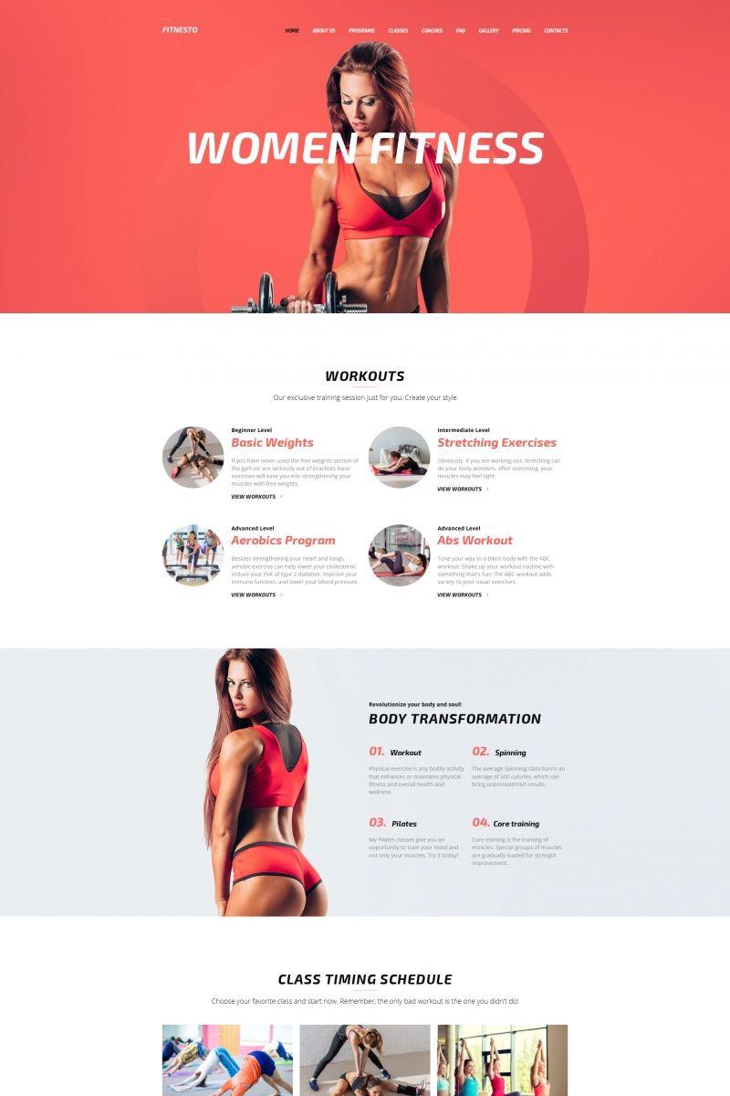 Fitnesto Fitness & Gym Premium Moto CMS 3 Template