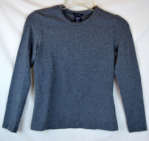 Womens Gap Sz Medium Stretch Gray Long Sleeve Layering Top Shirt Blouse | eBay