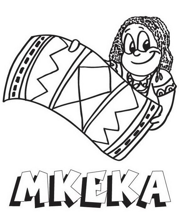December Holiday Kwanzaa coloring pages