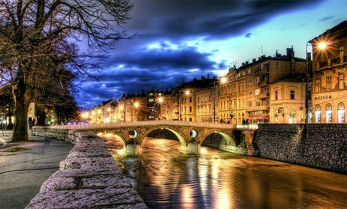 Latinska cuprija (Latin Bridge) in Sarajevo, HDR