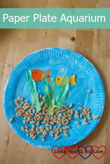Paper plate aquarium aquariums craft and activities for Cardboard activities for toddlers