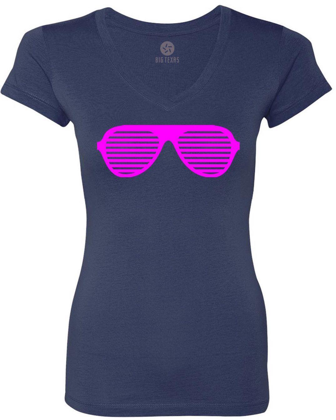 Raver Shades (Pink) Women's Short-Sleeve V-Neck T-Shirt