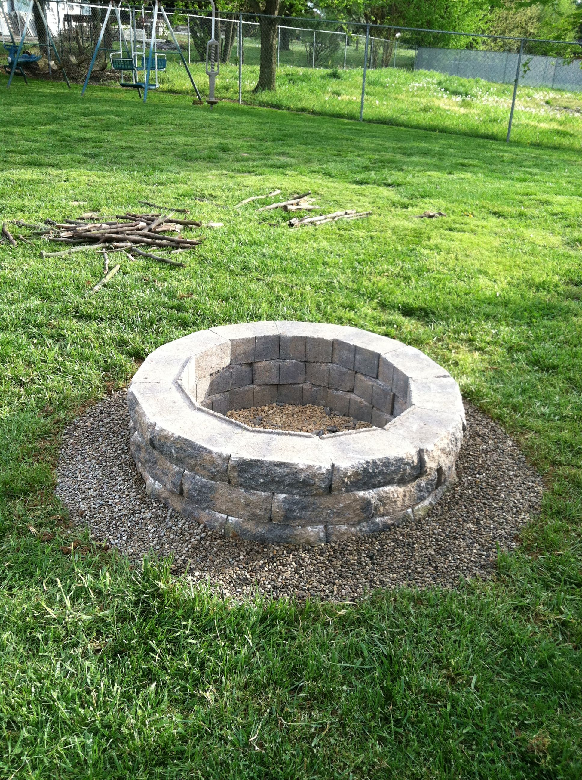Redneck fire pit easy and cheap omg so pretty for Make a fire pit cheap