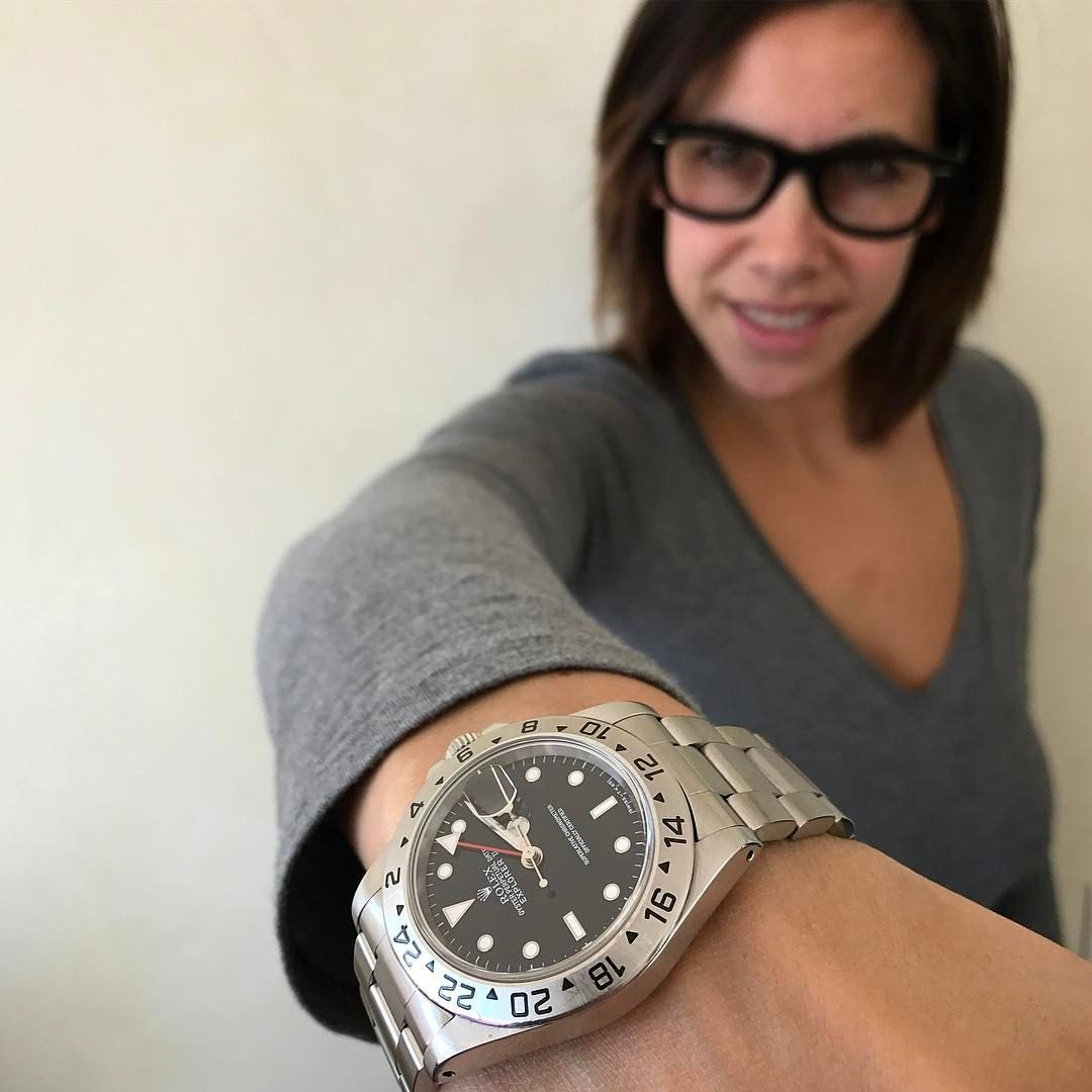 "Gefällt 675 Mal, 26 Kommentare - Giorgia Mondani (@giorgiamondani) auf Instagram: ""Wearing the iconic Explorer 16570🔘 find one for sale at @colomboswatches via MondaniWeb.com…"""