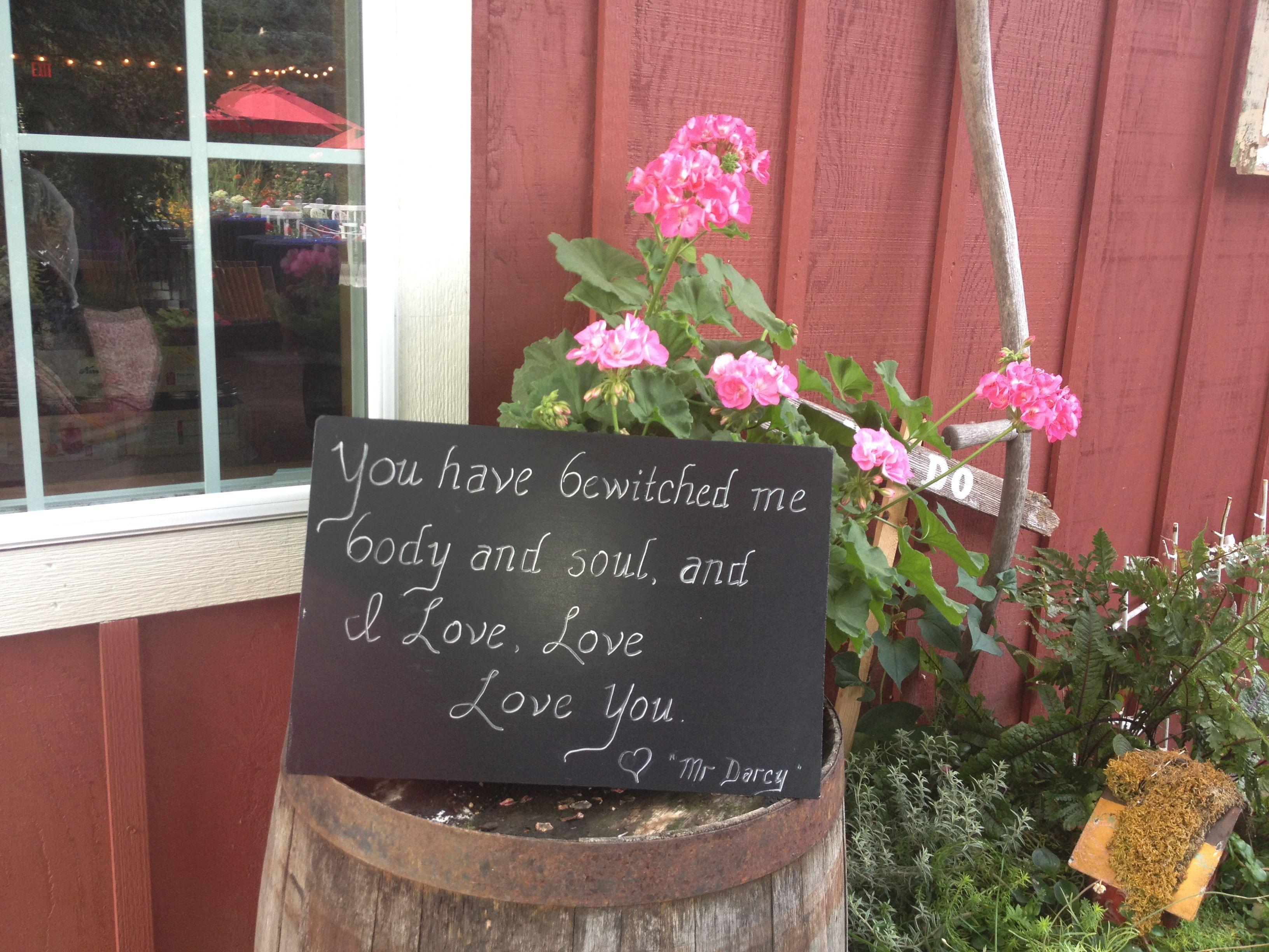 wedding decor and sentiment at lucy u0027s garden in ridgefield