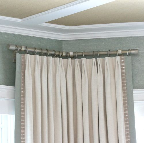 Drapery Hardware Fit To A Corner In A Bay Corner Bend Hardware