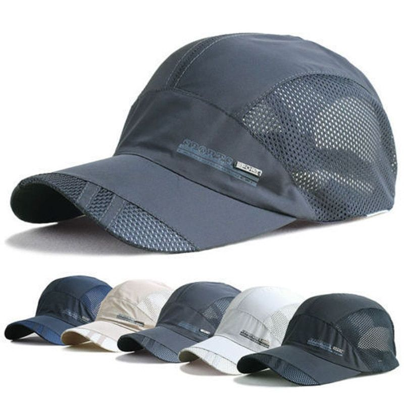 Men/'s Visor Caps Sport Cool Summer Quick-Dry Running Baseball Mesh Hats Outdoor