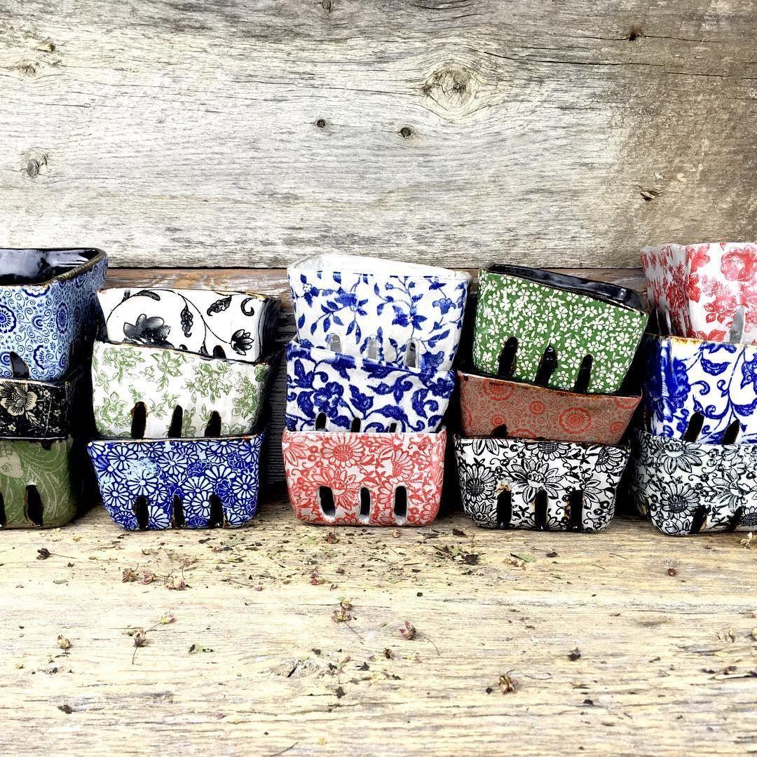 Handmade rustic organic ceramic berry cartons #pottery #Regram via @terrefermepottery - Slideit.top