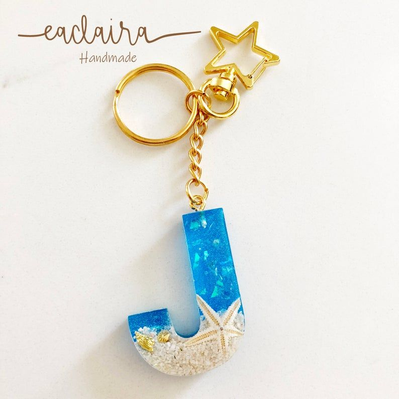 Sea Themed Resin Keychains