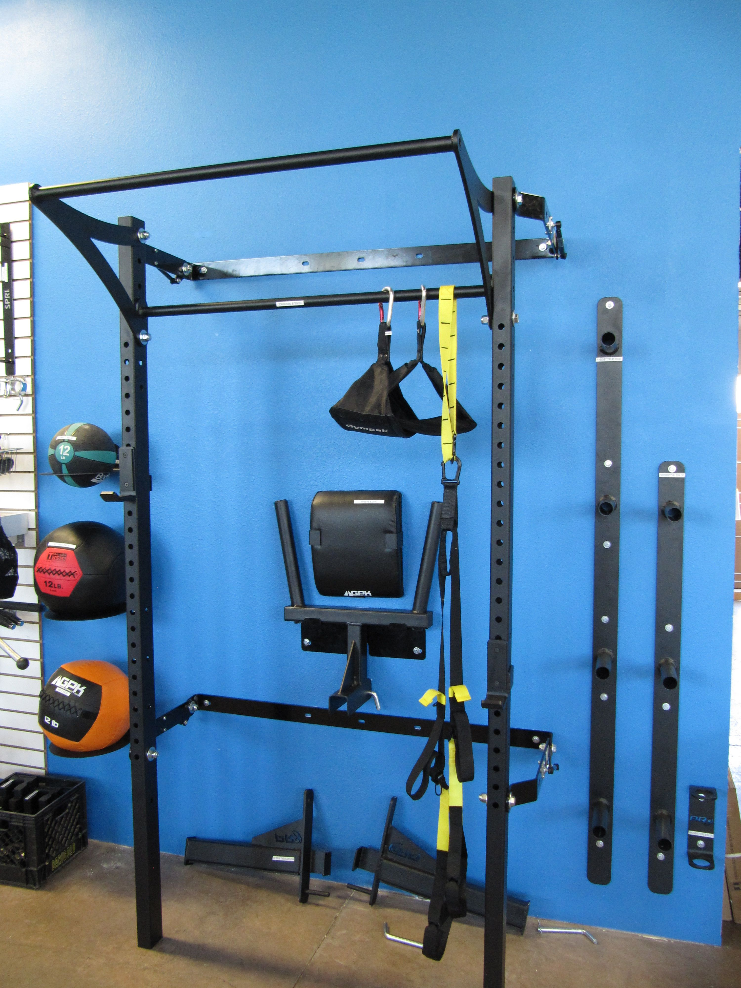 Prx garage gym profile rack with kipping bar™ as seen on abc s