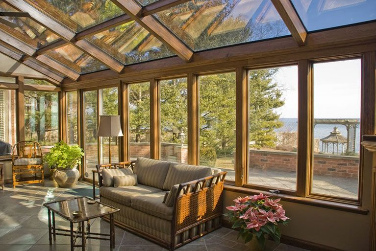 Delightful Straight Eave Glass Sunroom   Total Remodeling Systems