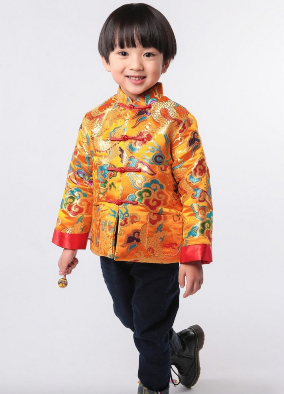 b0edb350d Traditional Chinese Festival Tang padded Clothing for Boys ...