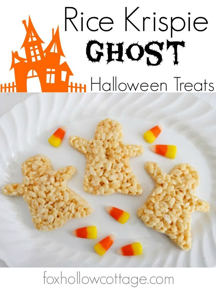 Halloween Rice Krispie Ghost Dessert Treats