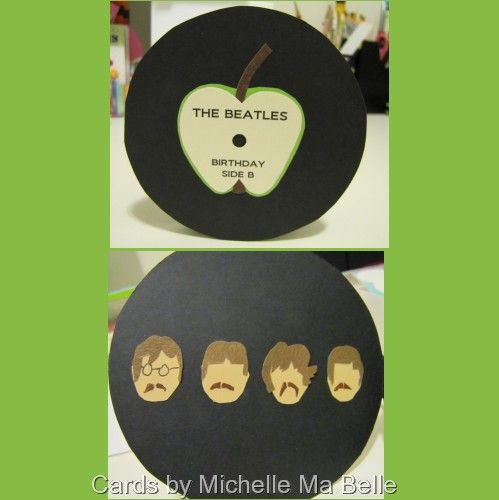 Fab 4 Beatles Birthday Card all images hand designed and hand cut – Beatles Birthday Cards