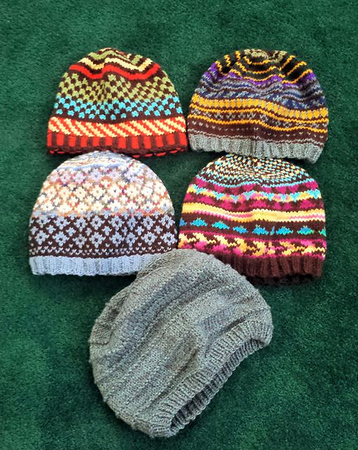 This is a pattern for a basic knit hat with spiral ...