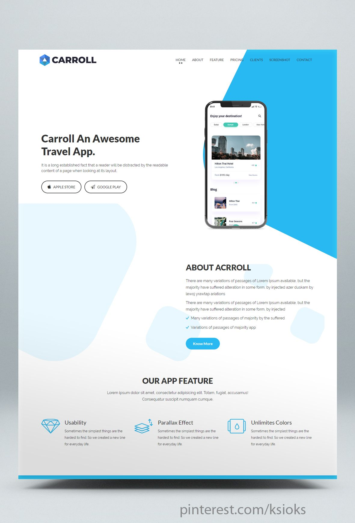 App Landing Page Html Website Template Is A Responsive Clean And