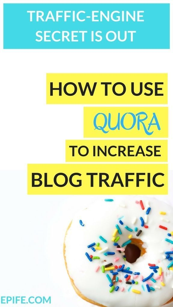How to use quora to increase blog growth and engagement. Quora is the popular traffic engine machine to drive more blog traffic to your site for Free. Yes! It's a free blogging platform to build an expert profile where you connect with readers and link th
