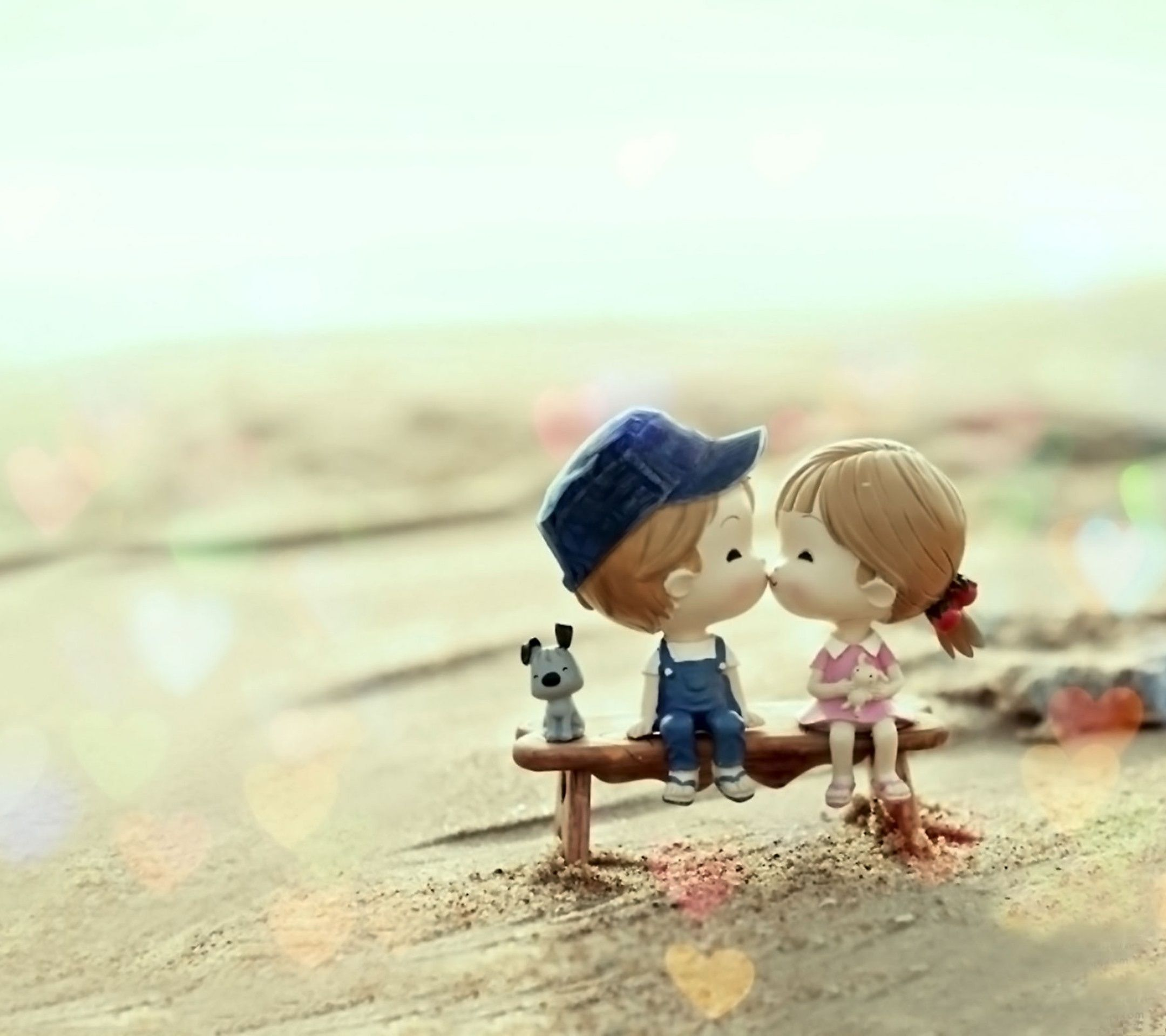 Doll Couple Kissing Tap To See More Love Is In The Air Wallpapers Mobile9 Cute Love Wallpapers Cute Couple Wallpaper Love Couple Wallpaper