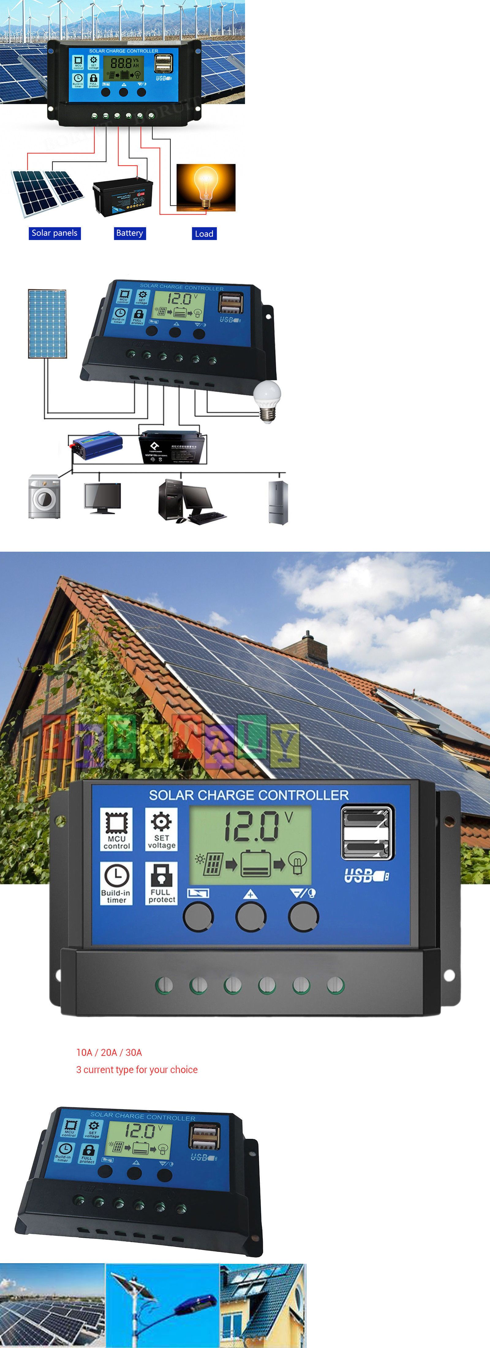 Alternative And Solar Energy 41979 Pwm Solar Charge Controller 12v 24v Regulator Lcd Display Charger Send From Usa Buy It Now Only Solar Solar Power Lcd