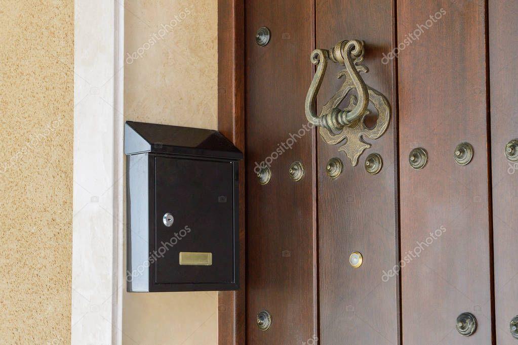 Mailbox Wooden Door Close Stock Photo Ad Door Wooden Mailbox Photo Ad In 2020 Wooden Doors Closed Doors Wooden