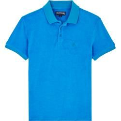 Photo of Herren Ready to Wear – Solid Frottee-Polohemd für Herren – Polohemd – Pacific – Blau – Xl – Vilebreq